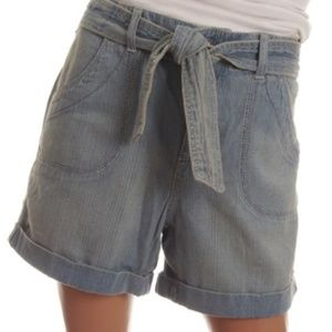 FC FRENCH CUFF Sz 12 Jean Shorts Belted NWT